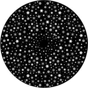 Disco animazione fiocchi di neve regolari - Golux Plus