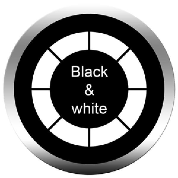 Black & white glass gobo