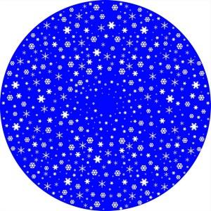 Disque Animation Flocons de neige réguliers - Divum
