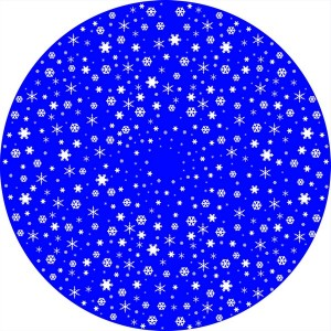 Disque Animation Flocons de neige réguliers - Golux Plus