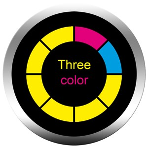 Gobos trois couleurs