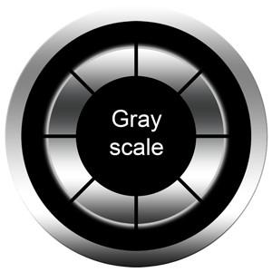 Gobos en dégradé de gris