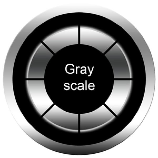 Grayscale glass gobo